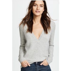 Madewell faux wrap pullover sweater